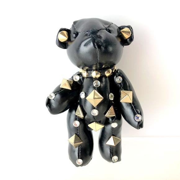Studded Teddy Bear Handbag Keychain Charm 98bcce712e27